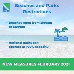 beaches and parks schedule costa rica february 2021